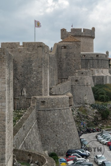 The wall and tower of Dubrovnik, Croatia