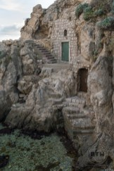 Doors and stairs in a rocky hillside just outside of Dubrovnik, Croatia