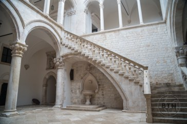 Stairs in the Rector's Palace in Dubrovnik, Croatia