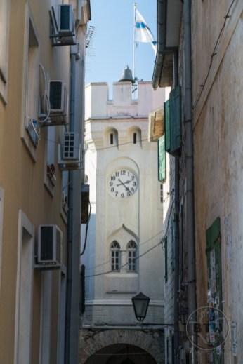 A clock tower in Herceg Novi, Montenegro