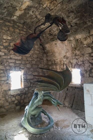 Dragons in a room at Klis Fortress near Split, Croatia