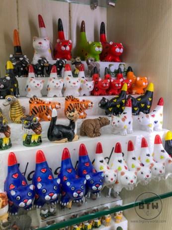 Cat figurines in Kotor, Montenegro