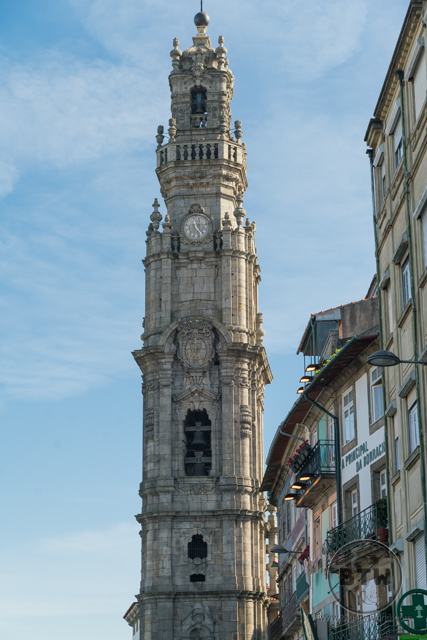 The Clerigos Tower in Porto, Portugal