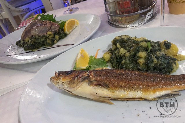 A fish dinner in Rijeka, Croatia