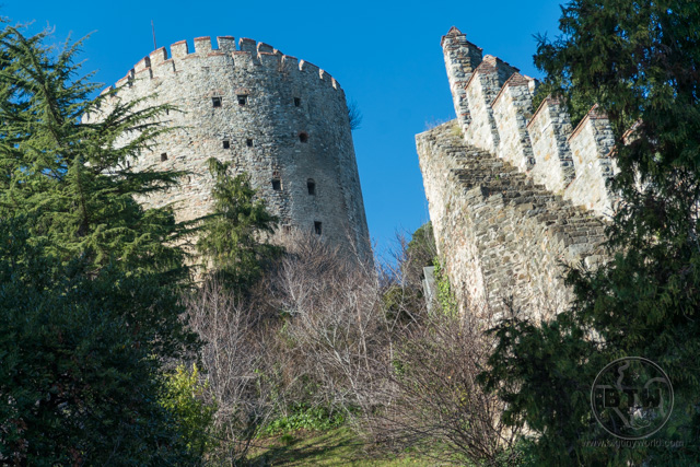 The Rumeli Hisari fortress ruins in Istanbul, Turkey