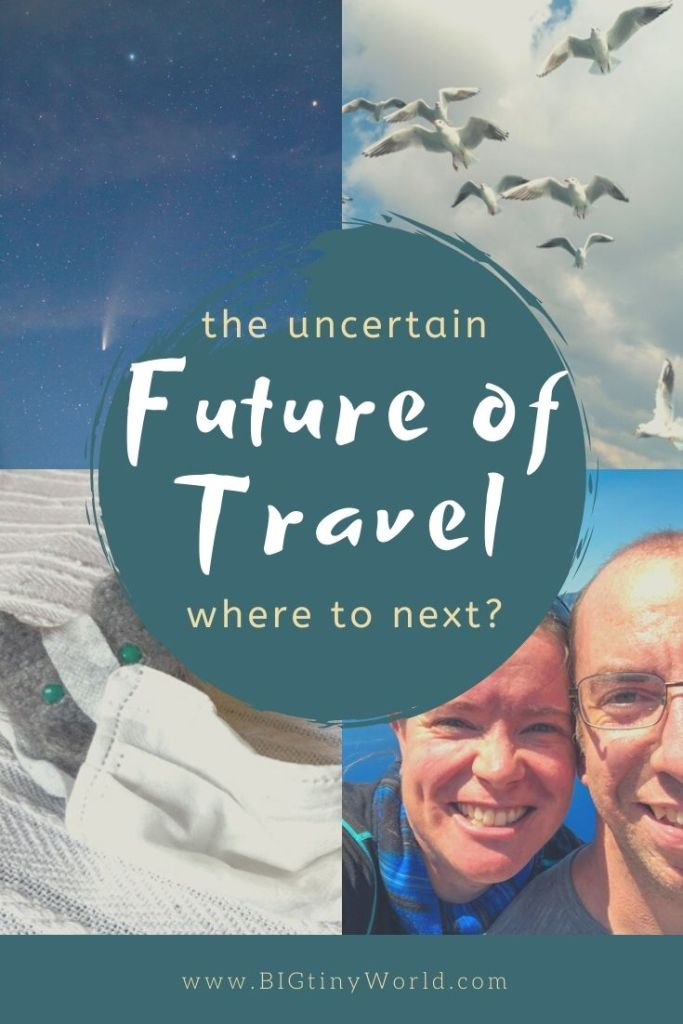 The future of travel is uncertain, but we've been making the most of the situation. We have an exciting new project launching soon, and you're invited to be a part of it! Click to read more! | BIG tiny World Travel | #bigtinyworld #futureoftravel #fulltimetravel #travelcourse