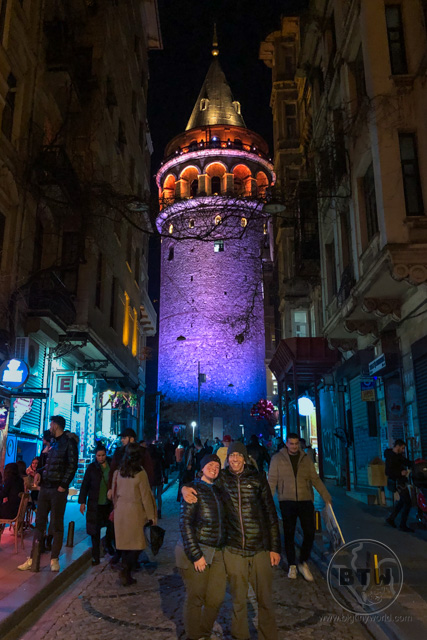 Galata Tower Istanbul at Night