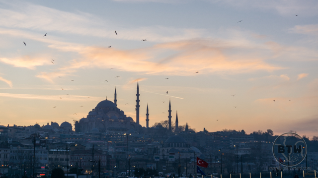 Silhouette of Istanbul, Turkey at dusk