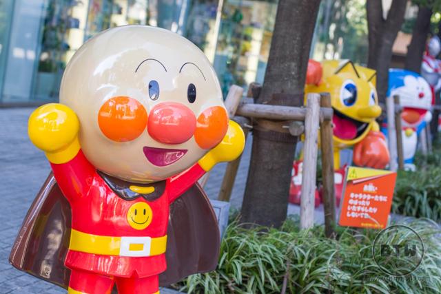 Cartoon character statues in Tokyo, Japan