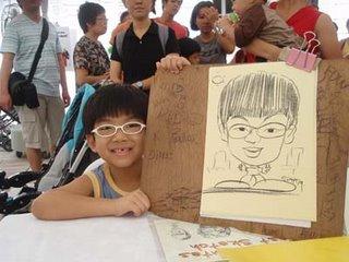 Caricaturist Welles Singapore