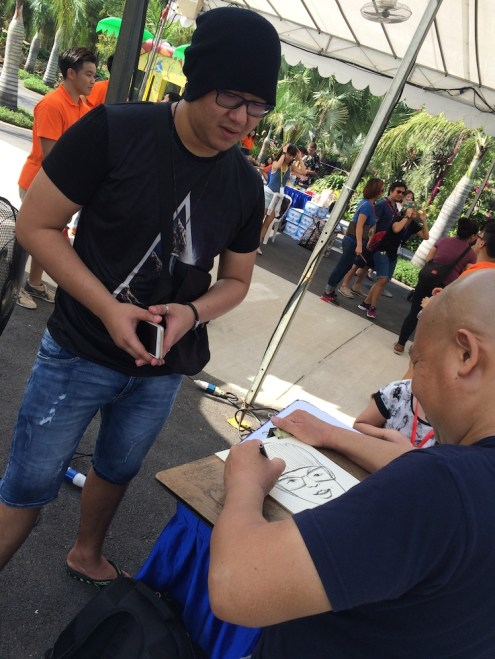 Event Caricature Artist Drawing