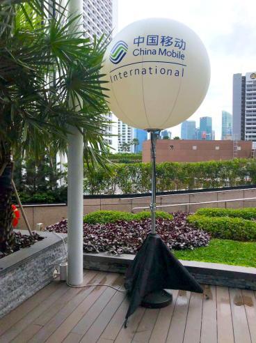 Outdoor Advertisement Balloon Stand Rental Singapore