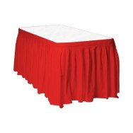 Rectangle table with Red Skirting