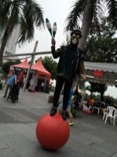 Roving Juggler on Ball
