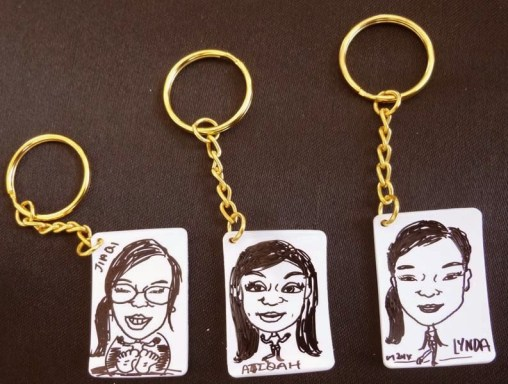 Shrink Caricature Keychain