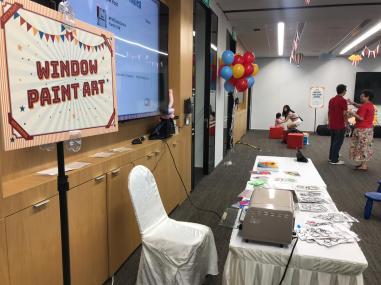 Window Paint Art Actvitiy Singapore