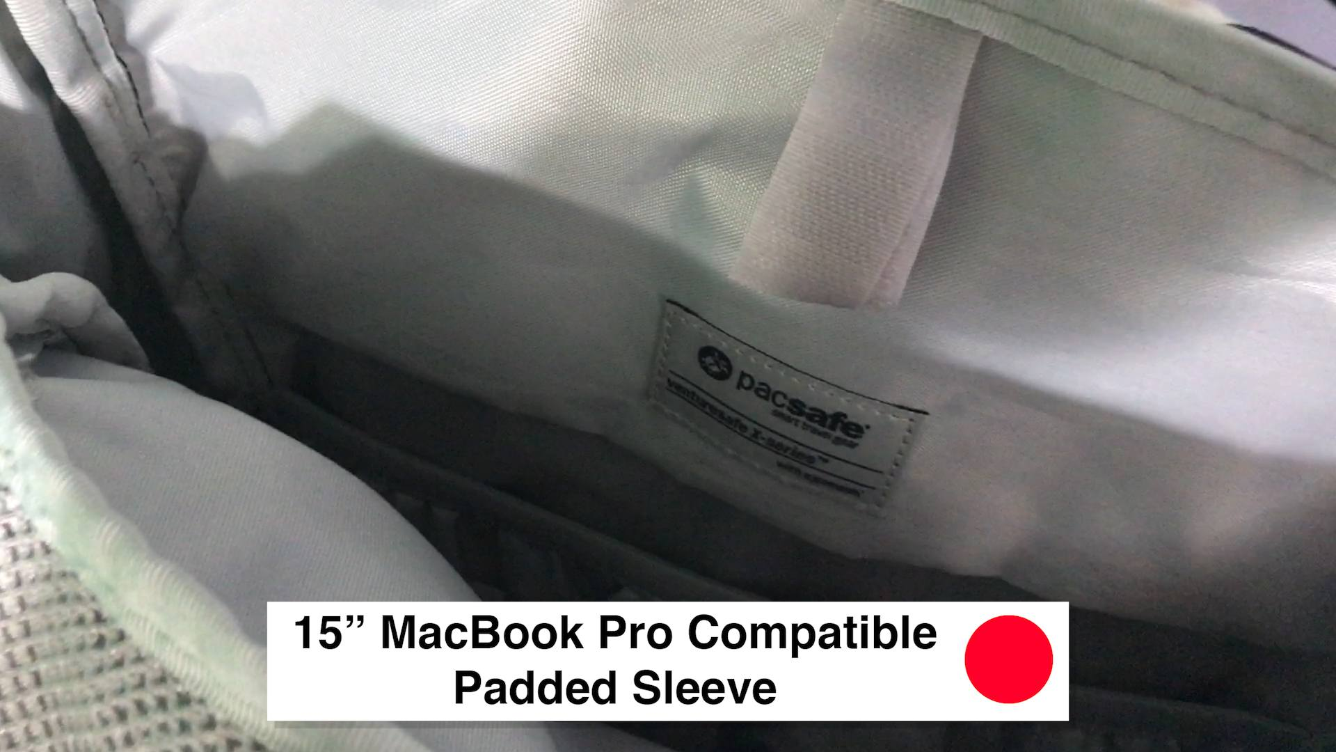 15 Inch MacBook Pro Compatible Padded Sleeve - Pacsafe Venturesafe X30 Travel Pack - Black Anti Theft Backpack