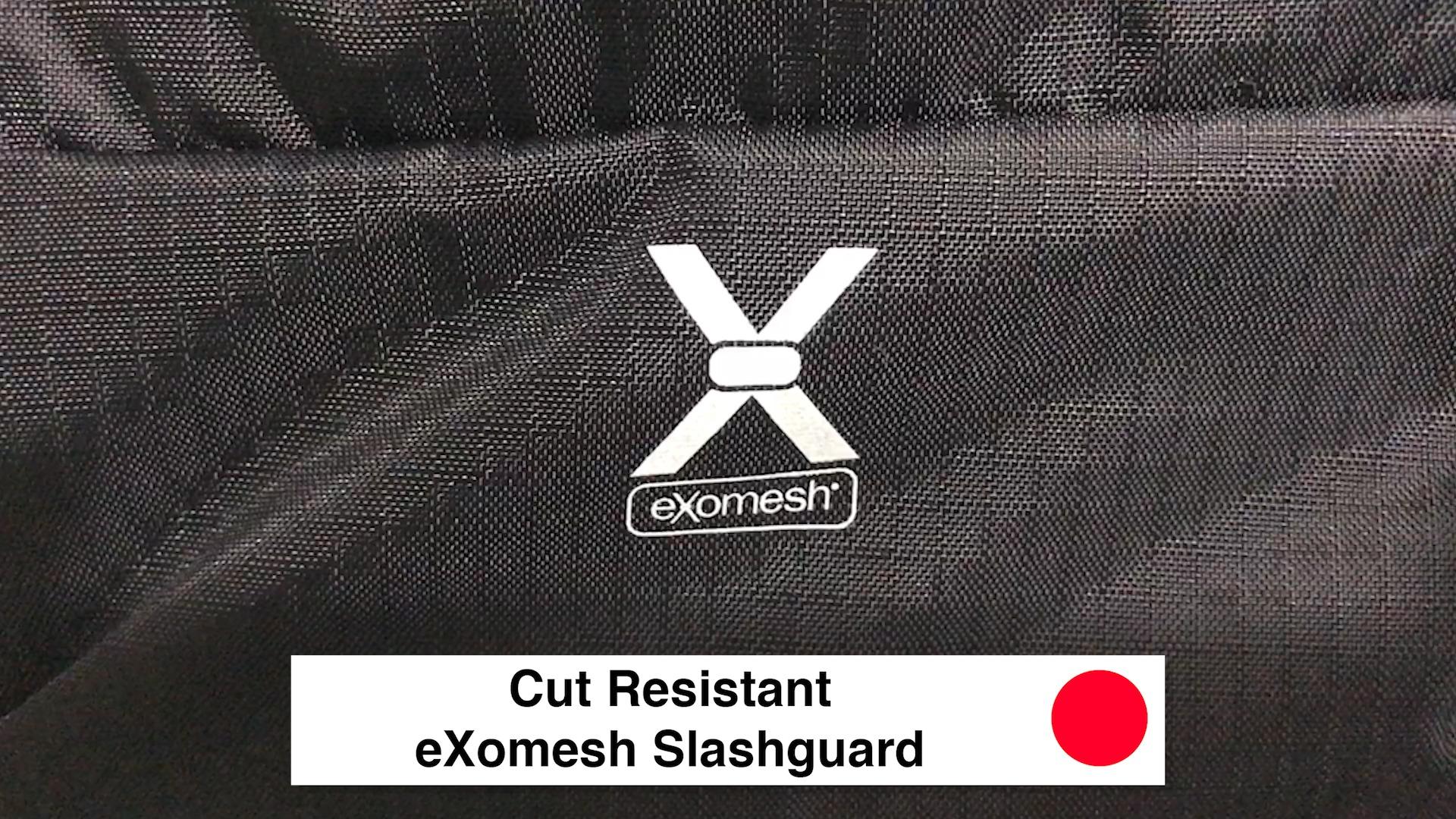 Cut Resistant eXomesh Slashguard - Pacsafe Venturesafe X30 Travel Pack - Black Anti Theft Backpack