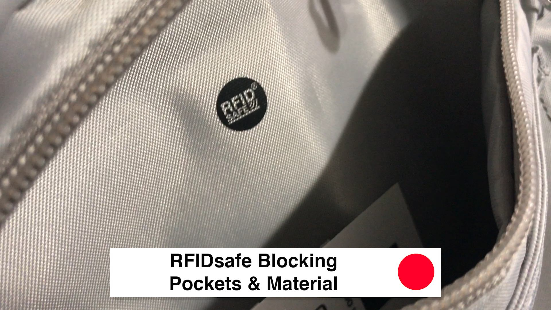 RFIDsafe Blocking Pockets and Material - Pacsafe Venturesafe X30 Travel Pack - Black Anti Theft Backpack
