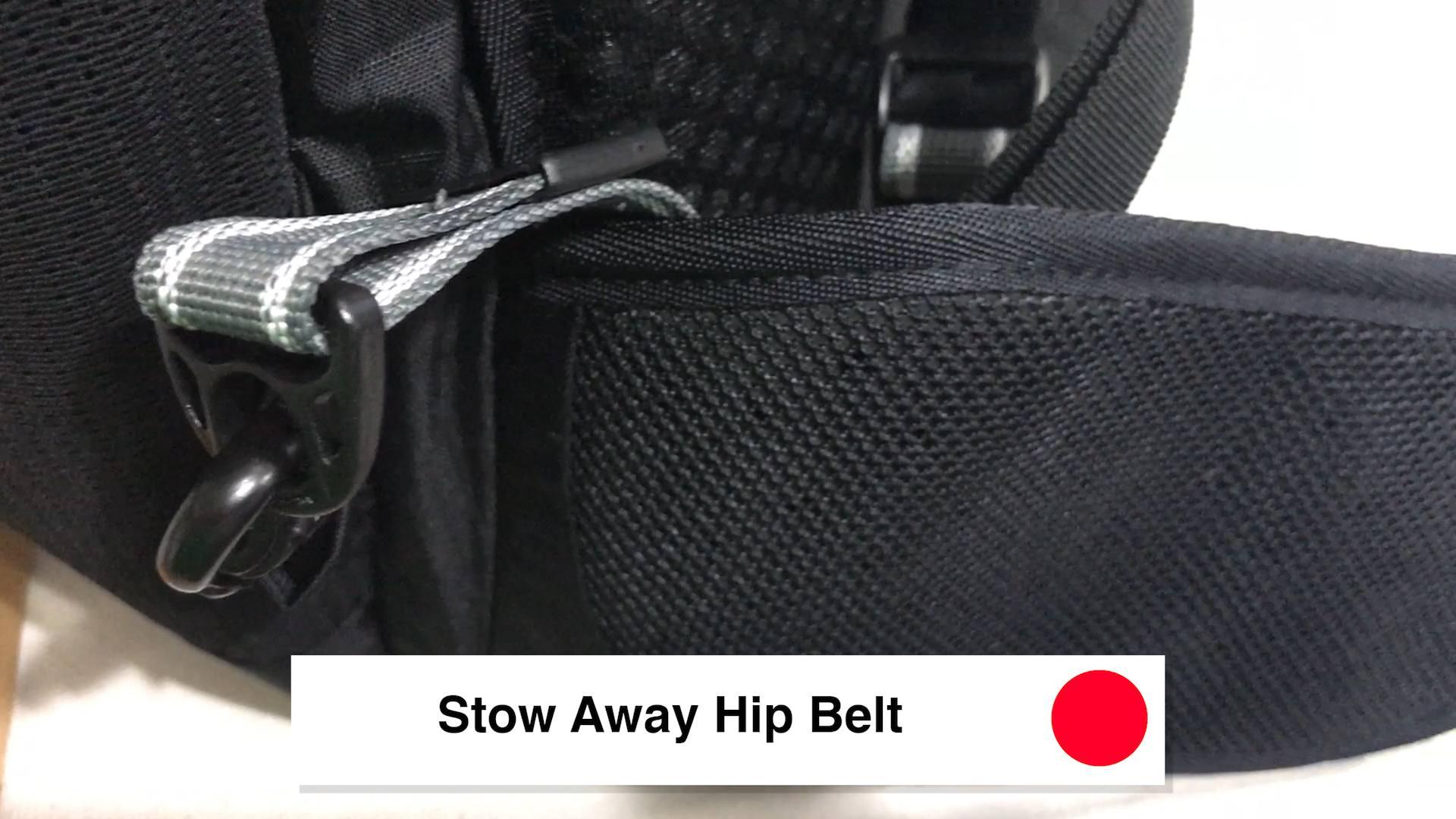 Stow Away Hip Belt - Pacsafe Venturesafe X30 Travel Pack - Black Anti Theft Backpack