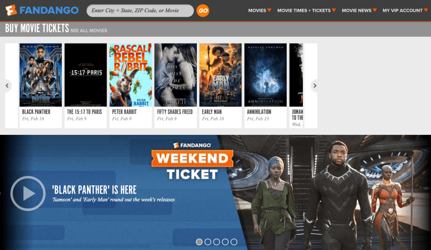 Buy Fandango Movie Tickets 🎥 🎬 🎞️
