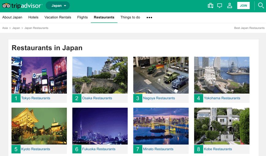 Tripadvisor japan Restaurants 🇯🇵 ⛩️ 🍣