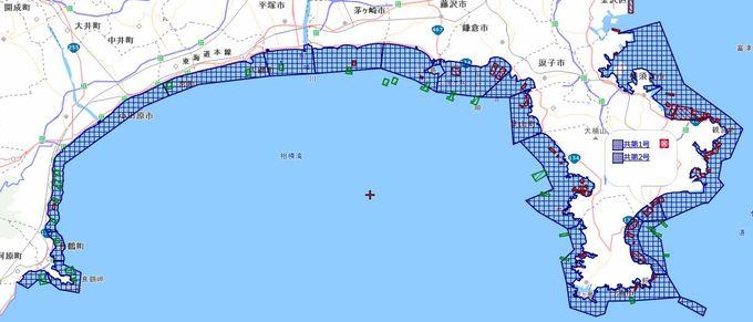 神奈川県の共同漁業権の場所
