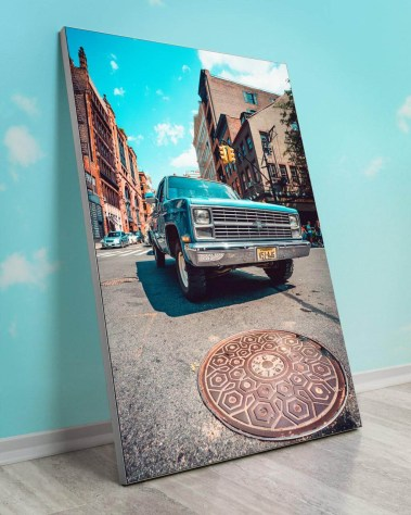 Biggest Wall Art Massive Gigantic Big Huge Large Largest Giant Décor Backlit Fabric Home Deco Artwork Artist New York City Street Icon Portrait Scenic Photographer Nick Ford Nick40V Truck City Street Urban