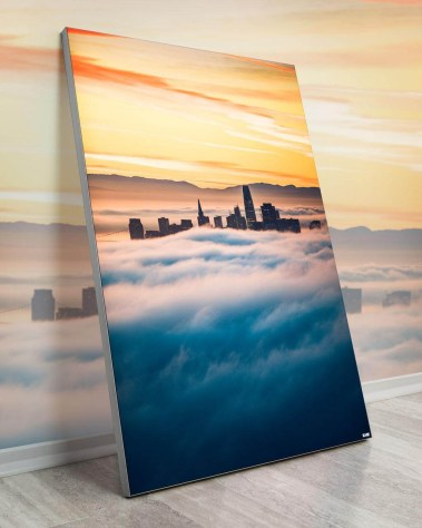 Gigantic Big Biggest Massive Huge Large Largest Giant Wall Décor Art Backlit Fabric Home Deco Artwork Artist Kane Andrade Skyline Clouds Sunrise