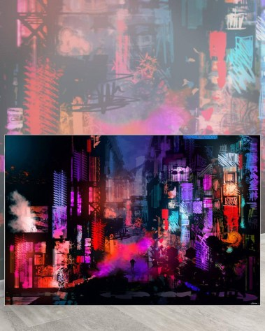 Biggest Wall Home Decor Art Huge Large Big Gigantic Wall Décor Massive Largest Giant Art Backlit Fabric Home Deco Artwork Instagram Digital Artist Daniel Ignacio Dkaism Instagram Street Sketch Colorful Painting Surreal Future