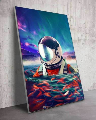 Big Swimming Astronaut Wall Art Huge Decor Prints