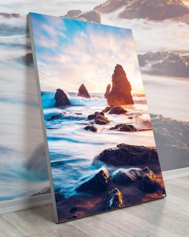Gigantic Big Biggest Massive Huge Large Largest Giant Wall Décor Art Backlit Fabric Home Deco Artwork Artist Kane Andrade Waves Ocean Rock Beach