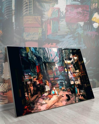 Giant Wall Home Art Decor Huge Large Biggest Gigantic Wall Décor Massive Largest Giant Art Backlit Fabric Home Deco Artwork Instagram Digital Artist Daniel Ignacio Dkaism Instagram Street Sketch Colorful Painting Surreal Future