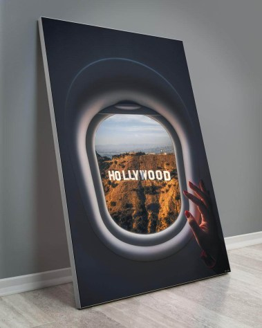 Huge Home Deco Art Gigantic Big Biggest Massive Large Largest Giant Wall Décor Art Backlit Fabric Home Deco Artwork Artist landscape nature Scenic Photographer Ryan Ditch hollywood sign