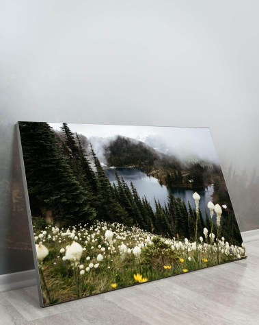Big Biggest Massive Huge Large Largest Giant Gigantic Wall Décor Art Backlit Fabric Home Deco Artwork Artist Jared Gunderson Landscape Scenic Photography Instagram Flowers Nature Forest River Fog