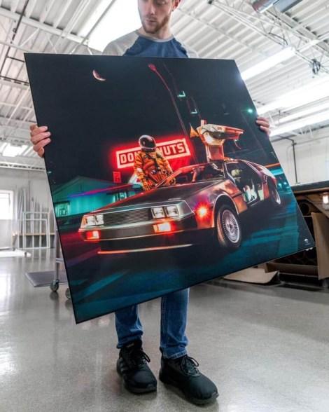 Big Astronaut Futuristic Space Wall Art Huge Decor Prints