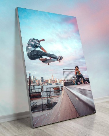 Massive Wall Art New York Decor Gigantic Big Biggest Massive Huge Large Largest Giant Wall Backlit Fabric Home Deco Artwork Artist New York City Street Icon Portrait Scenic Photographer Nick Ford Nick40V Pop Skyline Skateboard Clouds Sunset Cityscape Portraits