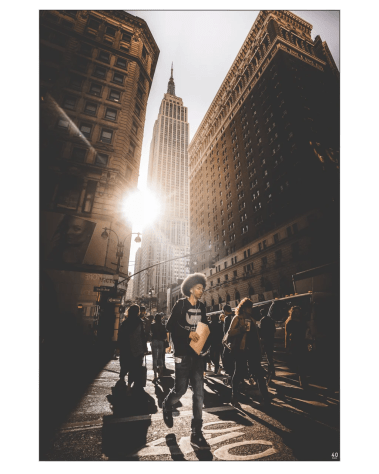 Oversized Home Decor New York Biggest Wall Art Gigantic Big Massive Huge Large Largest Giant Wall Décor Backlit Fabric Home Deco Artwork Artist New York City Street Icon Portrait Scenic Photographer Nick Ford Nick40V Empire State Building City Street Sunburst People