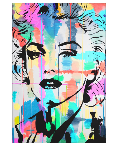 Huge Wall Art Pop Décor Gigantic Big Biggest Massive Large Largest Giant Wall Décor Art Backlit Fabric Home Deco Artwork Monaco Artist Lukas Avalon lukasavalon marilyn monroe in color