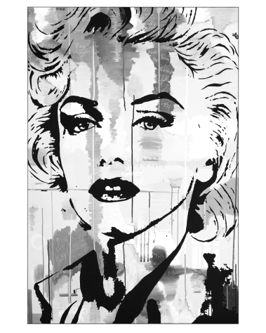 Huge Wall Art Pop Decor Gigantic Big Biggest Massive Large Largest Giant Wall Décor Art Backlit Fabric Home Deco Artwork Monaco Artist Lukas Avalon lukasavalon marilyn monroe