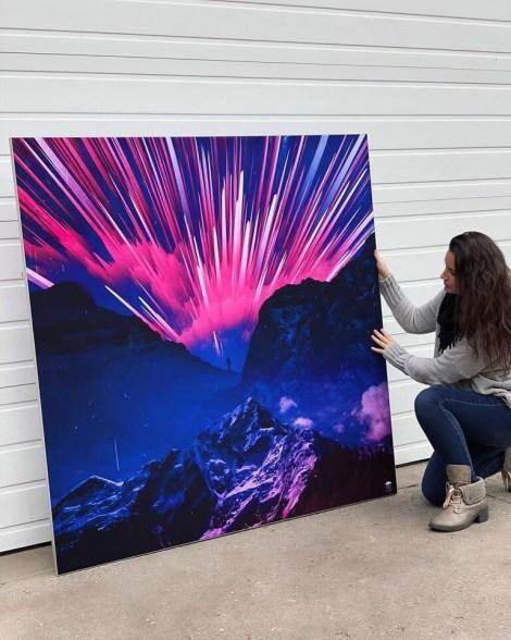 Big Abstract Futuristic Wall Art Huge Decor Prints