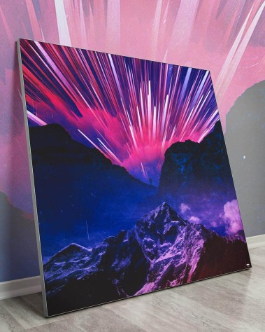 Large Neon Wall Art Large Giant Huge Large Big Biggest Massive Gigantic Wall Art Décor Backlit Fabric Lightbox Home Deco Artwork Colorful Surreal Digital Illustrator Artist Seamless Instagram Astronaut Galaxy Space Futuristic Future