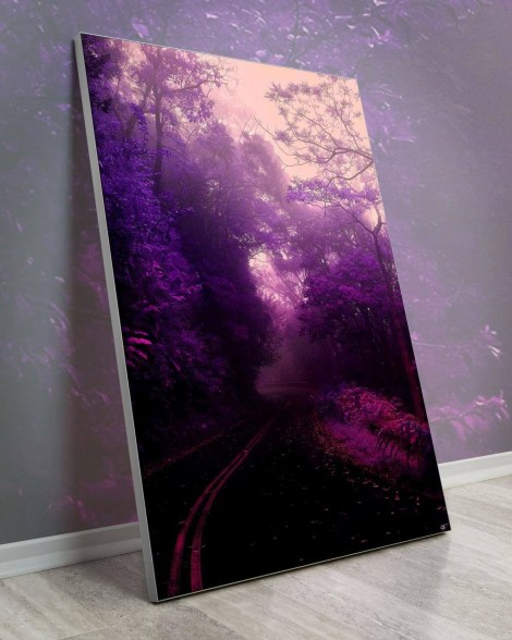 Purple-Tree-Covered-Road-wall-decor-Arytron