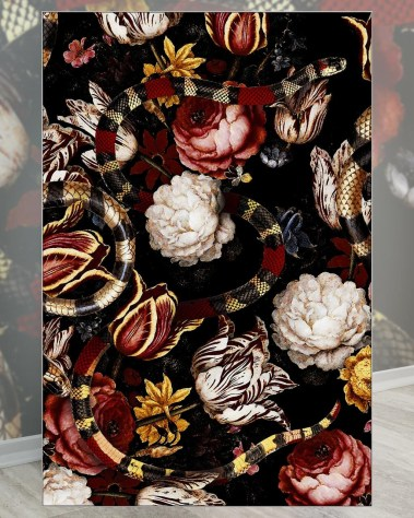 Extra Large Vintage Floral Patterned Oversized Wall Art Decor