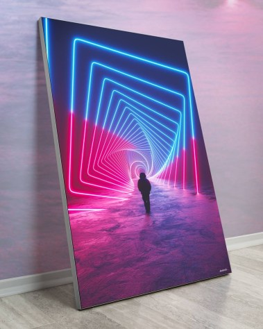 Big Neon Vortex Trippy Wall Art Huge Decor Prints