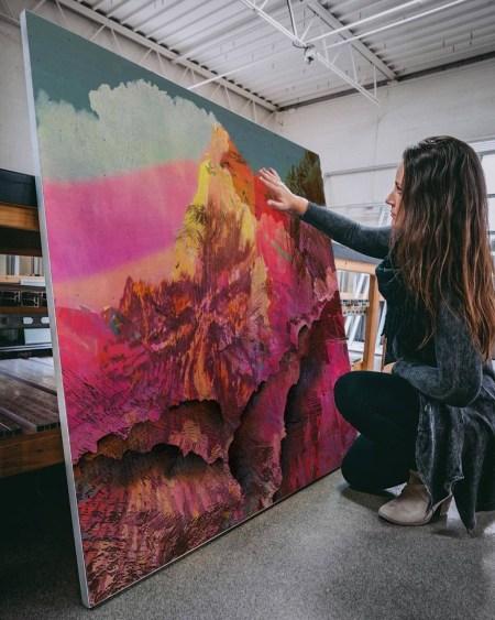 Wall Art Mountain Abstract Art