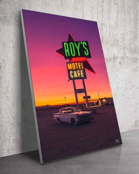 Large-Route-66-Amboy-California-Classic-Wall-Art-Isas