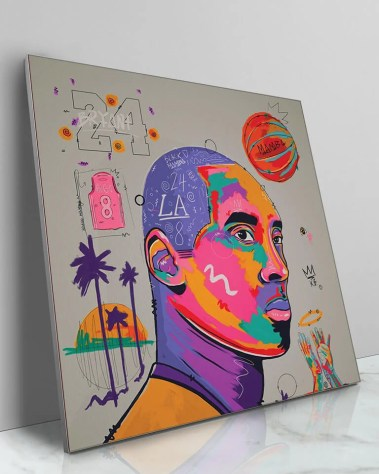 Giant Kobe Bryant Mamba Gigi Bryant Pop Art Painted Wall Decor