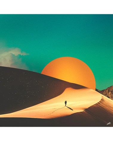 Desert Planet Collage Digital Surrealism Digital Illustration Large Wall Art