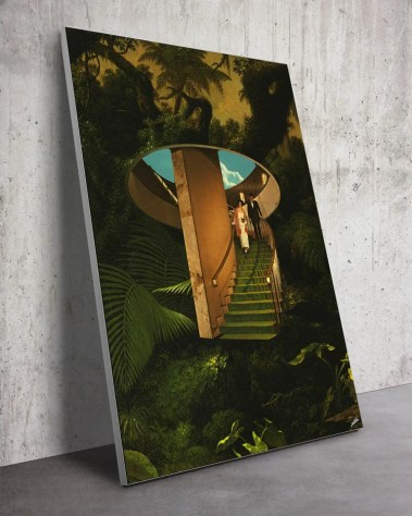 Nature Jungle Couple Surreal Digital Surrealism Large Wall Art